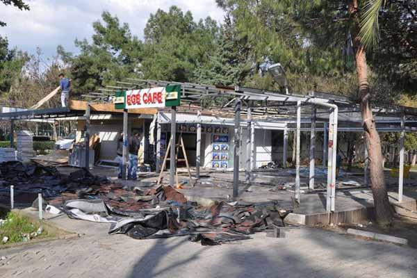 Ege Üniversitesi'ndeki o kafe yıkıldı