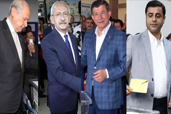 Parti Genel Başkanları oylarını kullandı