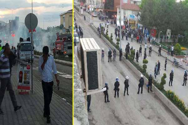 HDP'nin seçim irtibat bürosunun açılışında biber gazlı müdahale