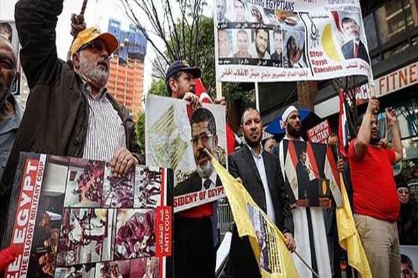 ABD'de Mursi'ye verilen idam cezası protesto edildi