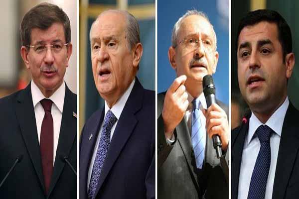 Seçime az zaman kala AKP, CHP, MHP ve HDP'nin son oy oranı