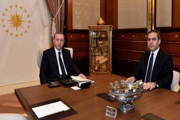 Hakan Fidan Cumhurbaşkanlığı Sarayı'na çıktı