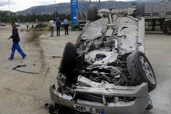 CHP'li adayın aracı kaza yaptı