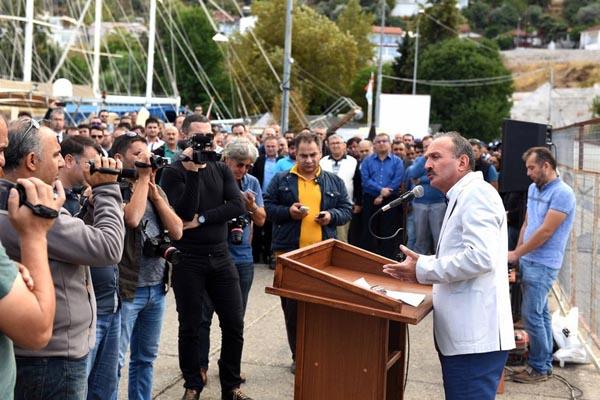 """Fethiye Belediye Başkanı'ndan tepki, """"Bir daha iskeleye adım atmam"""""""