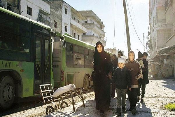 Halep'teki siviller tahliye ediliyor