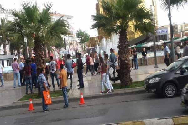 Aydın'da MHP ile HDP gerginliği yaşandı