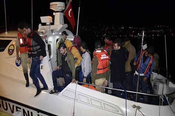 Bodrum'da yurt dışına çıkmaya çalışan 30 kaçak yakalandı