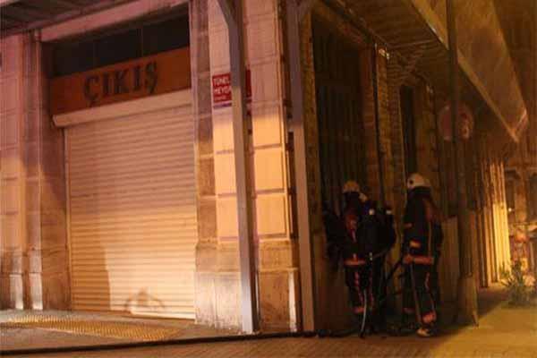İstanbul Taksim'de korkutan yangın