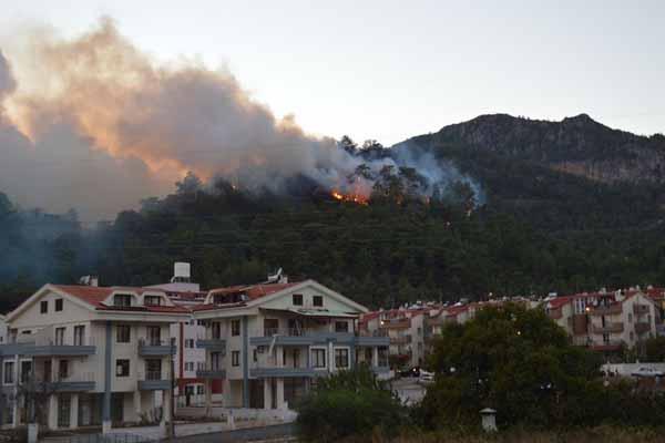 Marmaris'te 44 hektarlık alan kül oldu