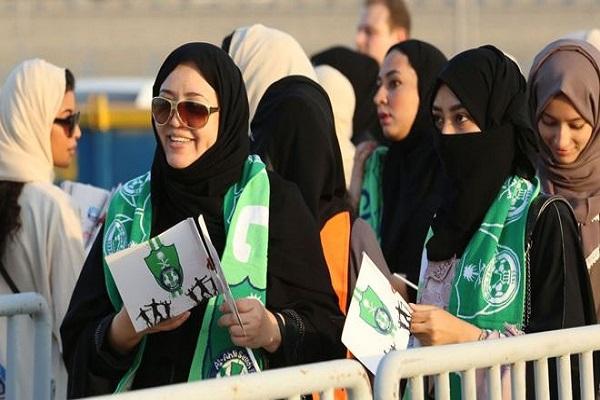 Suudi Arabistan'da kadınlar ilk kez futbol maçı izledi