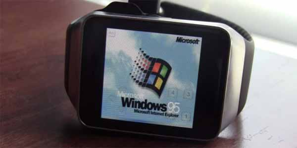 Android saate, Windows 95 yüklenirse ne olur