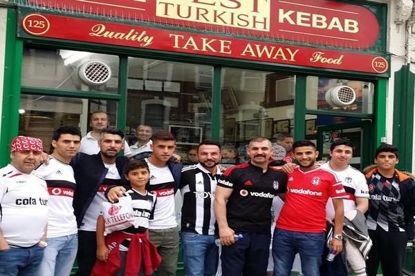 Beşiktaş'a Londra'da gurbetçi desteği