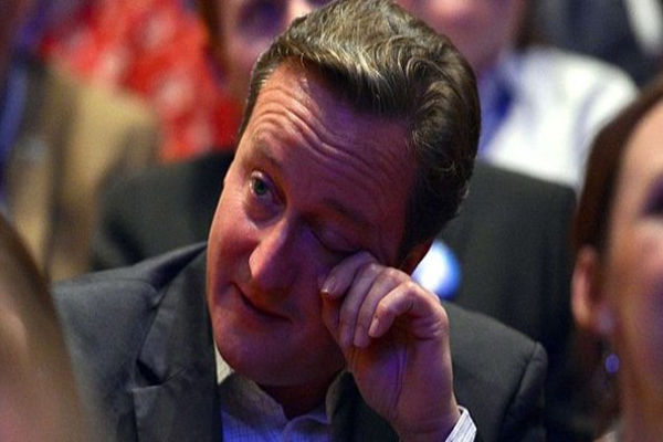 David Cameron gözyaşlarını tutamadı
