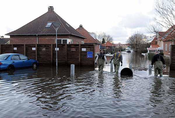 Danimarka, sular altında kaldı