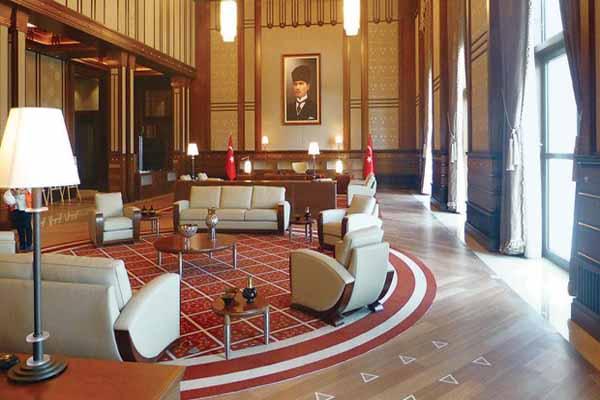 Cumhurbaşkanı Erdoğan'ın Ak Saray'daki yeni ofisi