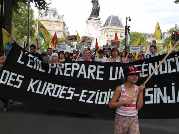 Fransa'da 6 bin kişilik Kobani eylemi