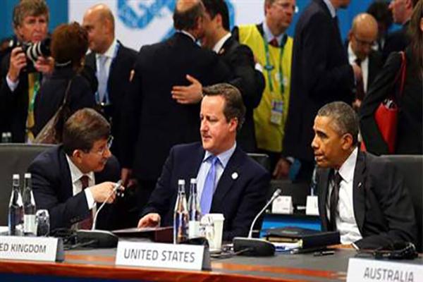 Davutoğlu ve Obama G-20 zirvesinde bir arada