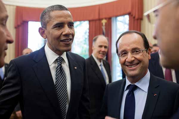 François Hollande, Barrack Obama ile görüştü
