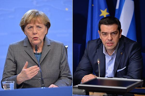 Merkel ve Çipras bir araya geldi