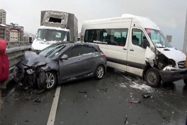 Rize'de zincirleme kaza çok sayıda yaralı var