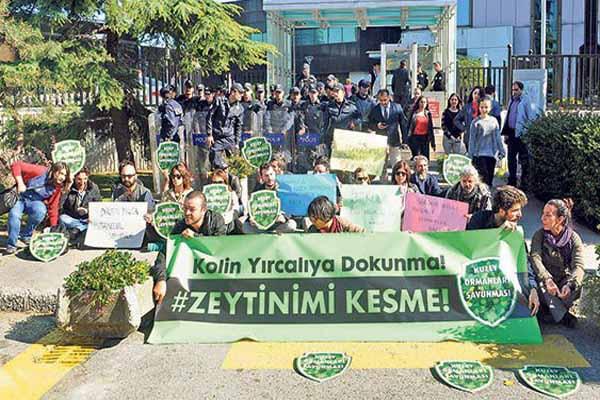 İstanbul'da Soma zeytinliği için eylem yapıldı