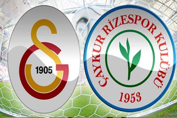 Galatasaray ile Çaykur Rizespor ligde 32. kez mücadele edecek