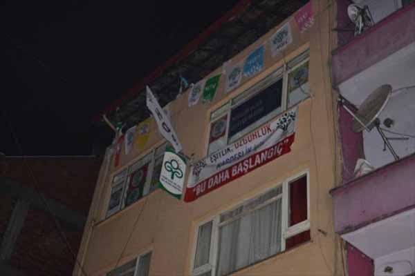 HDP binasına saldırı, 4 gözaltı