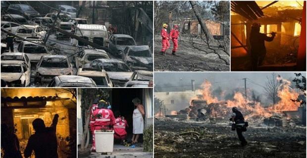 Yunanistan'daki yangın ile ilgili kan donduran iddialar