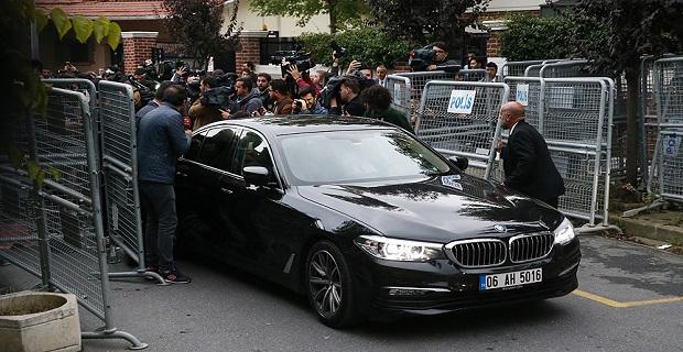 Cemal Kaşıkçı için İstanbul Başkonsolosluğu'na girdiler, açıklama yapmadan gittiler