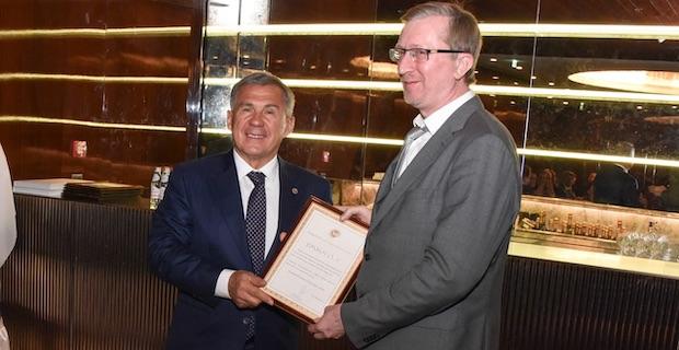 Tataristan Cumhurbaşkanı Rustam Minnikhanov, İngiltere'de Tatar'lar ile buluştu