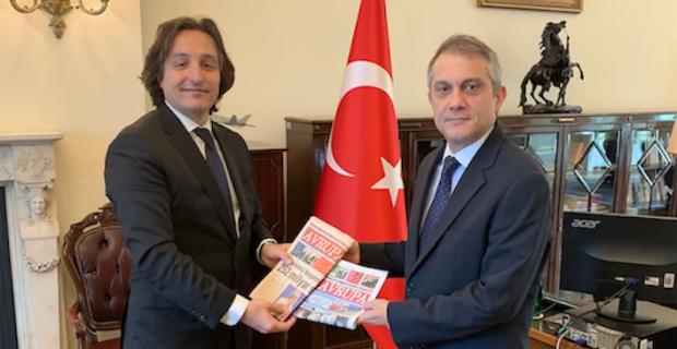 T.C. Londra Büyükelçisi Ümit Yalçın'a, Avrupa Gazetesi ziyareti