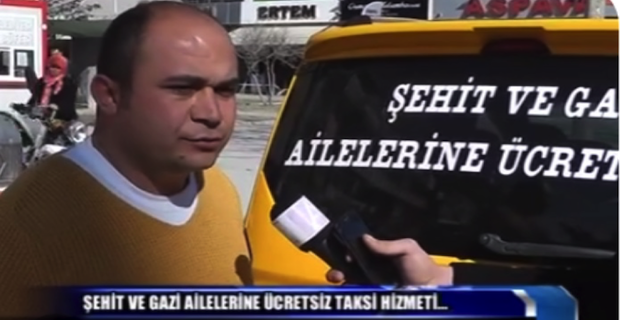 Kırşehir'de bir ticari taksi firması şehit ve gazi ailelerini ücretsiz taşıyor