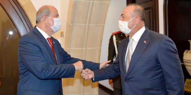 Türkiye Cumhuriyeti ve KKTC olarak bir bütünüz, TC Dışişleri Bakanı Çavuşoğlu KKTC'de konuştu