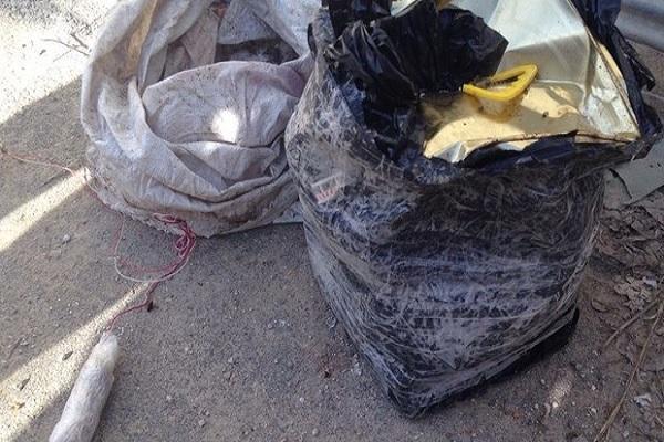 Teröristlerin rögara yerleştirdiği 20 kilogram patlayıcı imha edildi