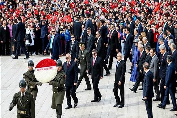 Anıtkabir ve TBMM'deki törenlere o parti katılmadı