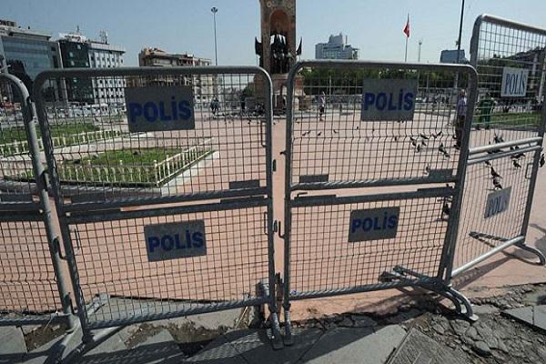 Taksim Meydanı'nda geniş güvenlik önlemleri alındı
