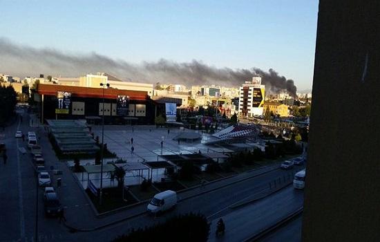 Adana Valiliği önünde meydana gelen patlamaya ilişkin ilk görüntüler