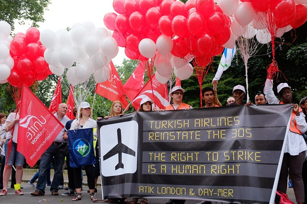 Turkish aviation workers protests