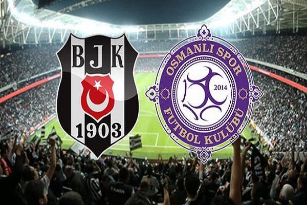 Beşiktaş Osmanlıspor maçı canlı yayın bilgileri