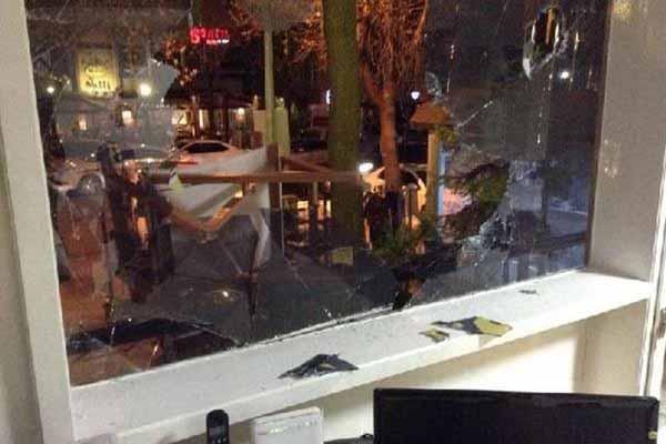 Fenerbahçe şubesine saldırı düzenlendi