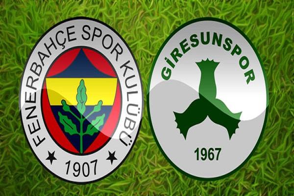 Fenerbahçe Giresunspor kupa maçı saat kaçta başlayacak