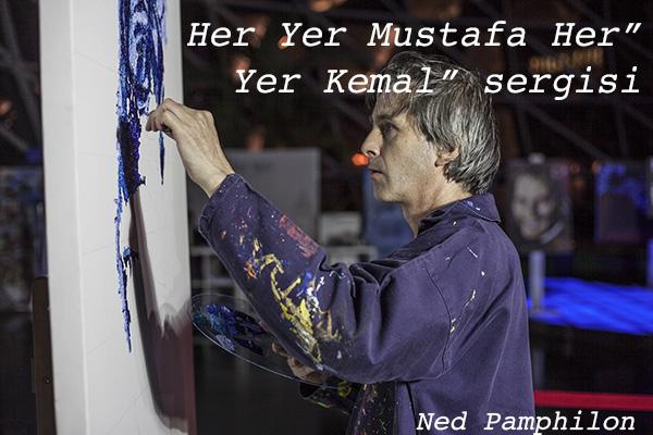İngiliz Ned Pamphilon'dan anlamlı Atatürk tablosu