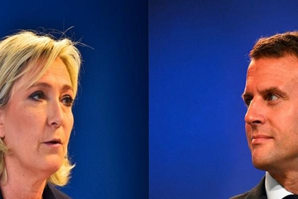 Emmanuel Macron ve Le Pen canlı yayında kozlarını paylaştı