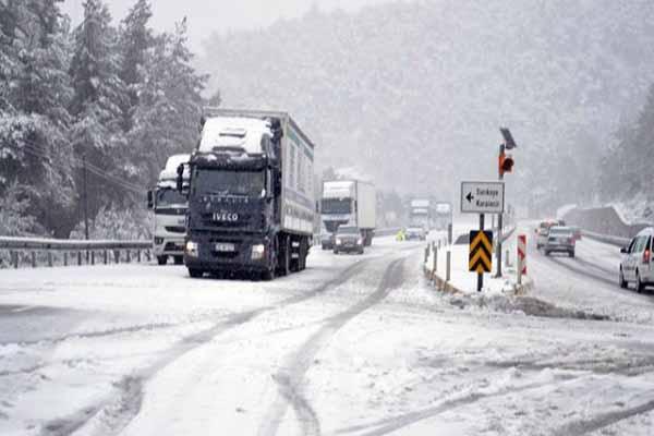 Nisan ayında Türkiye'de kar esareti