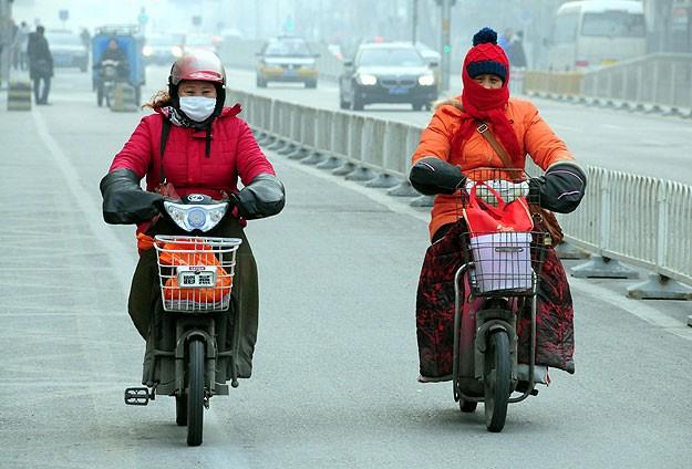 Çin'de tehlikeli hava kirliliği