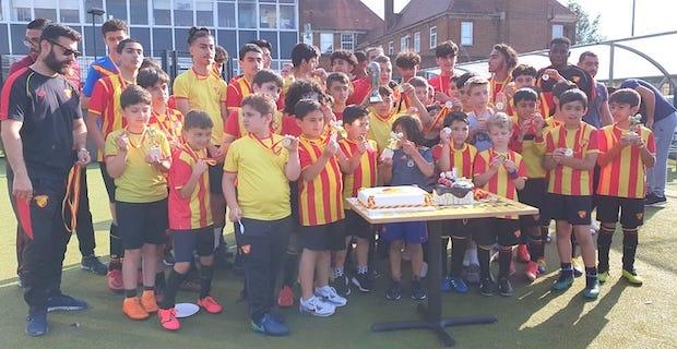 Göztepe FC London Futbol Akademisi'nde sertifika heyacanı