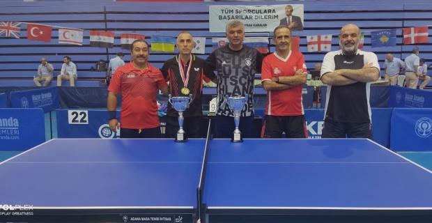 Uluslararası Masa Tenisi Turnuvası'nda Kürşat Çavuşoğlu, Tekler ve çiftlerde şampiyon oldu