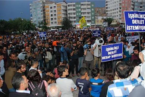 DBP'den Diyarbakır'da Kobani eylemi