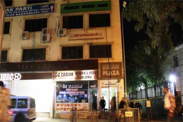 Diyarbakır'da kaymakamlığa saldırı