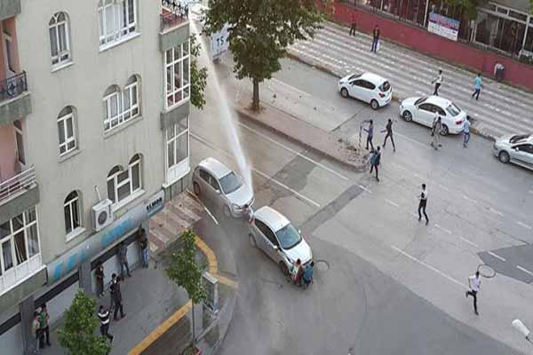 Diyarbakır maçın ardından savaş alanına döndü